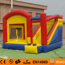 free shipping commercial grade PVC inflatable slide bouncer combo +free carry bag+free CE blower цена 2017