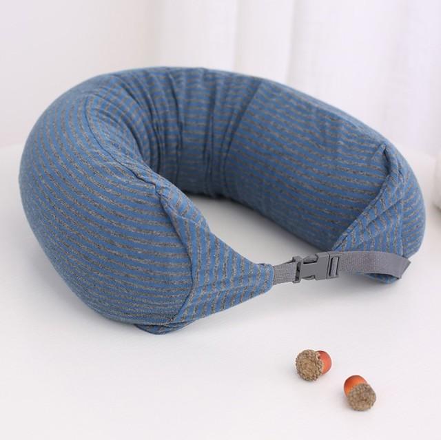 Portable U-Shaped Striped Pillow