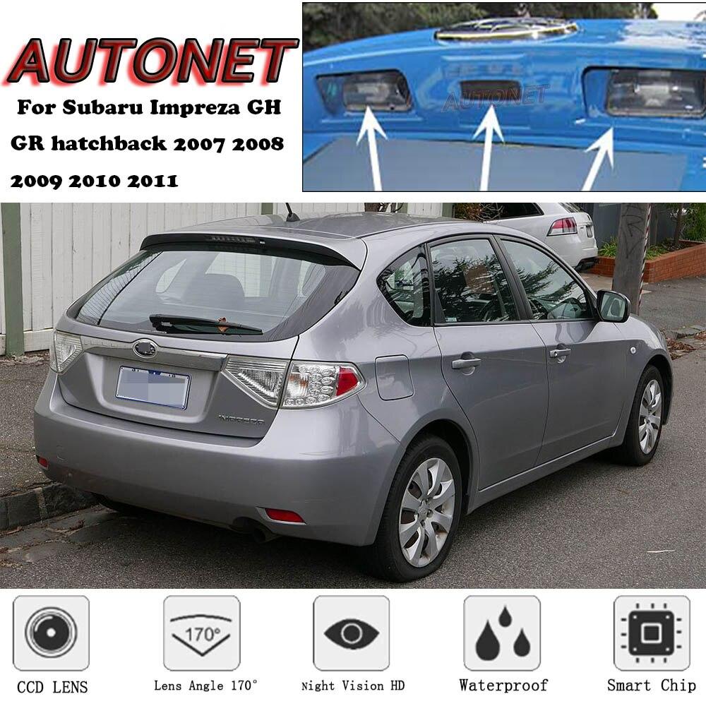 AUTONET Backup Rear View Camera For Subaru Impreza GH GR Hatchback 2007 2008 2009 2010 2011 Night Vision License Plate Camera