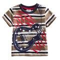 Camisetas para meninos de varejo Dos Desenhos Animados Do Bebê Meninos Camisa t Curto manga Bordado camisa Impressão Roupas Crianças Desgaste Dos Miúdos Carro S8120 MIX