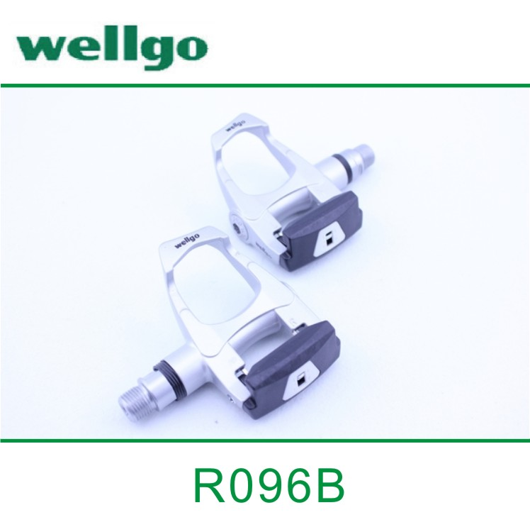 цена на wellgo R096b bike pedal mountain bike Road bicycle Aluminum alloy self-locking pedal