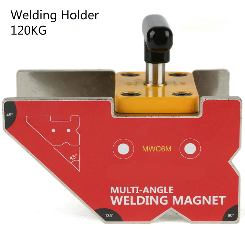 Heavy Duty Multi-angle Neodymium Magnet Welding Clamp 120kg Magnetic Force Magnetic Welding Holder MWC6Heavy Duty Multi-angle Neodymium Magnet Welding Clamp 120kg Magnetic Force Magnetic Welding Holder MWC6