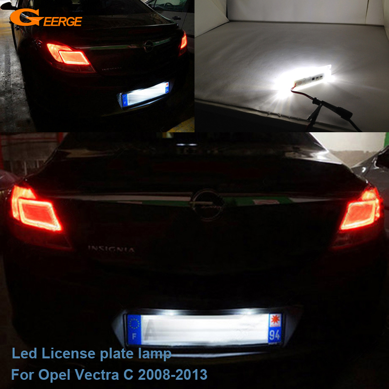 For Opel Vectra C 2008 2009 2010 2011 2012 2013 Excellent Ultra bright Led License plate lamp light No OBC error куплю задние стекло б у opel vectra a