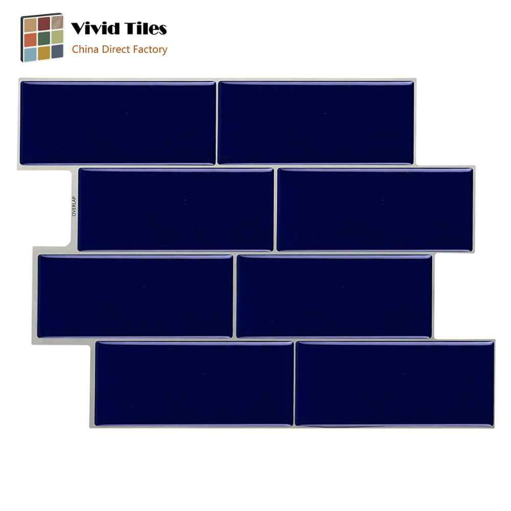 - Vividtiles Self Adhesive Resist To Heat And Humidity 3D Blue Brick
