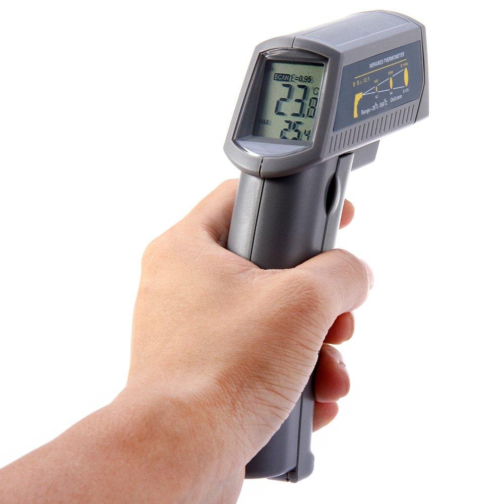 Thermometer IR Infrarot Digital Laser Temperatur Messgerät Messung 50°C ~ 550°C