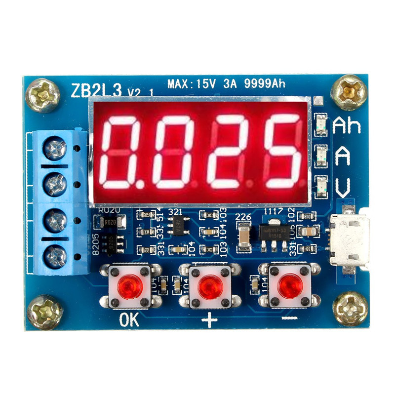 18650 Li-ion Lithium Battery Capacity Tester 1.2v 12v + Resistance Lead-acid Battery Capacity Meter Discharge Tester battery capacity tester resistance testing mobile power lithium lead acid battery can be 18650 serial line 20w page 7