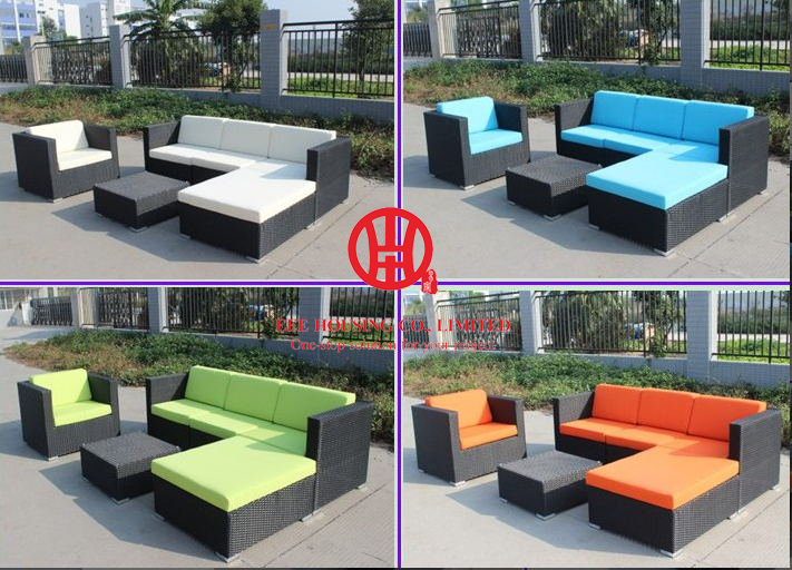 Outdoor Rattan Furniture Patio Brown Sofa Set,F-leisure Ways Outdoor Rattan Sofa Furniture, Luxury Rattan Outdoor Furniture