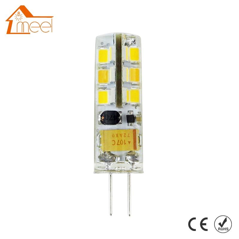 купить G4 LED Light DC 12V 3W 5W 6W LED Light SMD 3014 Silicone Corn Lamps Crystal Chandelier Lights Home Decoration Lighting недорого
