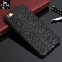 Real Genuine Leather Case For IPhone 7 6 6S Plus Cell Phone Luxury 3D Python Snake
