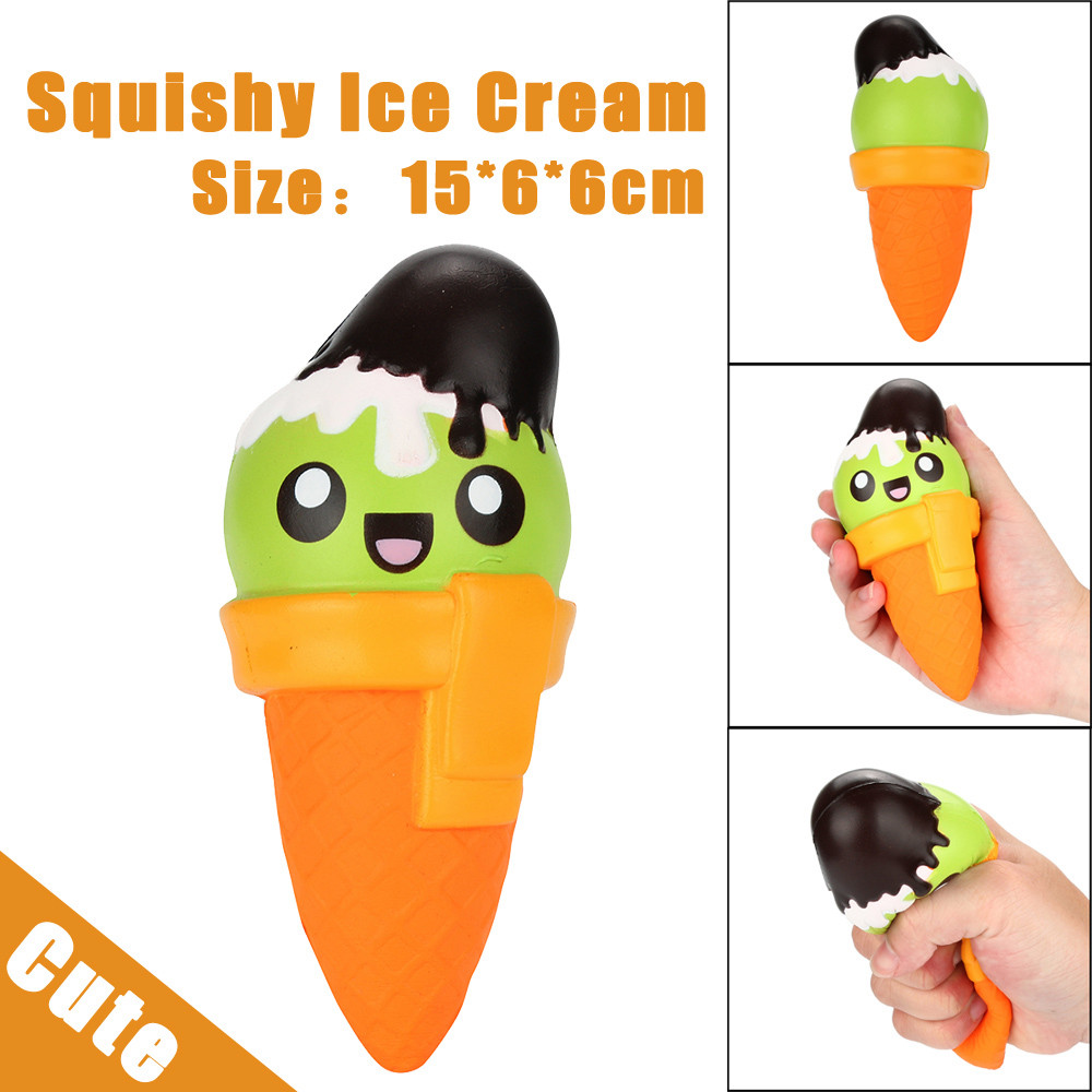 15cm Squishy Cartoon Ice Cream Relieve Anxiet Squeeze Slow Rising Funny Toys For Children Slow Rising Fun Toy Gift W708