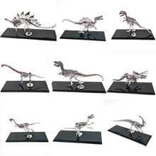 3D Metal Model Chinese Zodiac Dinosaurs Lucky God Beast Finished product No Assembly Toys Collection Desktop With Display Box