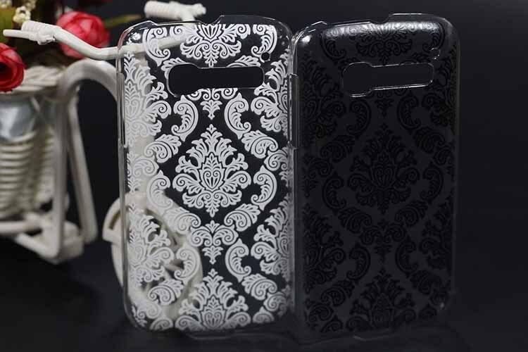 Высокое качество Живопись 3D Роскошные Винтаж черные и белые цветы чехол для телефона <font><b>Alcatel</b></font> One Touch C5 OT5036 OT 5036 5036D