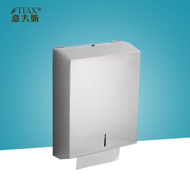 ITAS3327 Manual Paper Dispenser Rack Holder Towel Toilet Kitchen Cup Box Wipe Tissue Key Machine Moden Table Top 304 S.S