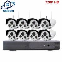 SSICON 8CH Wi Fi NVR комплект 3,6 мм объектив ИК Расстояние 20 м Водонепроницаемый 720 P Беспроводной CCTV Камера комплект дома видео безопасности Камара С