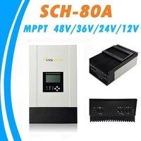 MPPT 80A Solar Charge Controller 12V 24V 36V 48V Auto Work for Max 150V Solar Panel Input RS485 Communication Heatsink Cooling