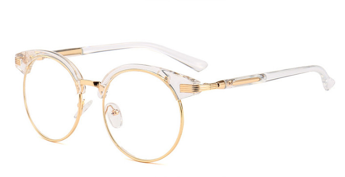 Eyesilove Women big finished myopia round Nearsighted prescription glasses frame