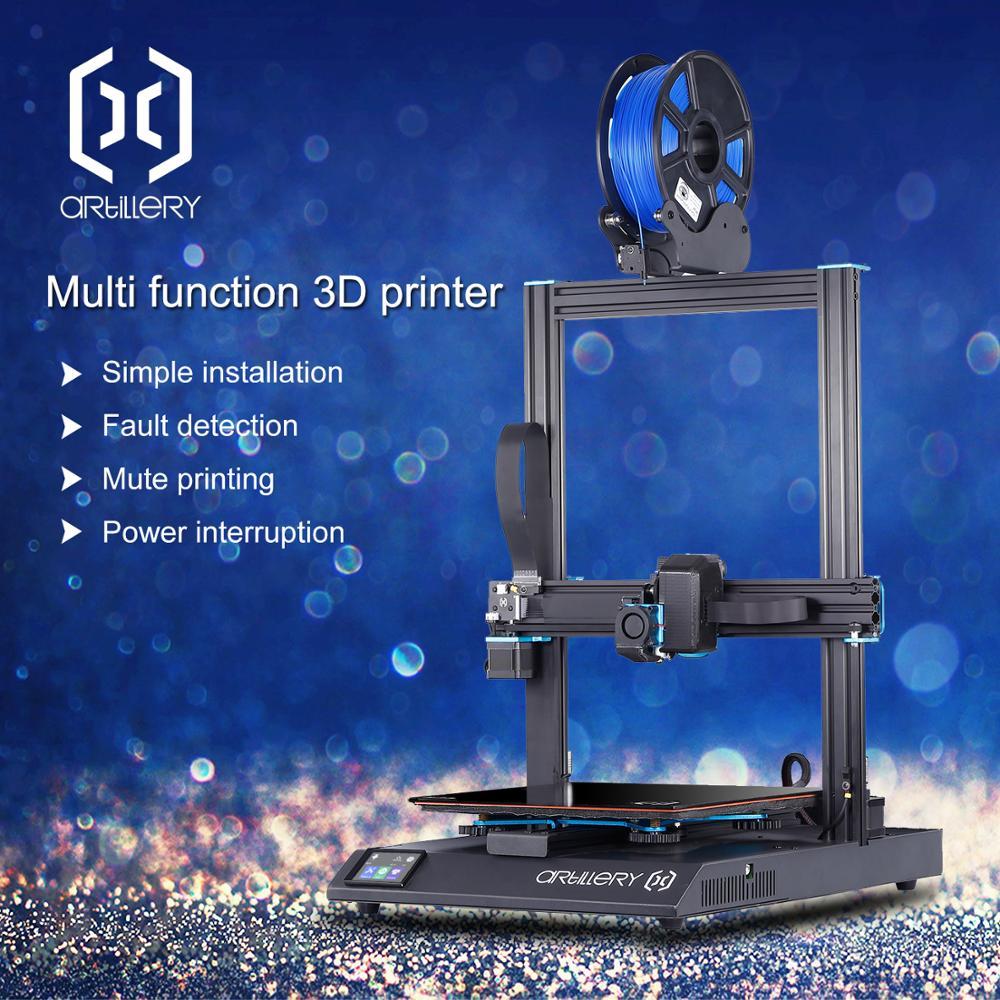 Artillery Sidewinder X1 3D Printer Ultra-quiet Driver TFT Touch Screen Dual Z axis Resume 3d printing printer 2019 Newest