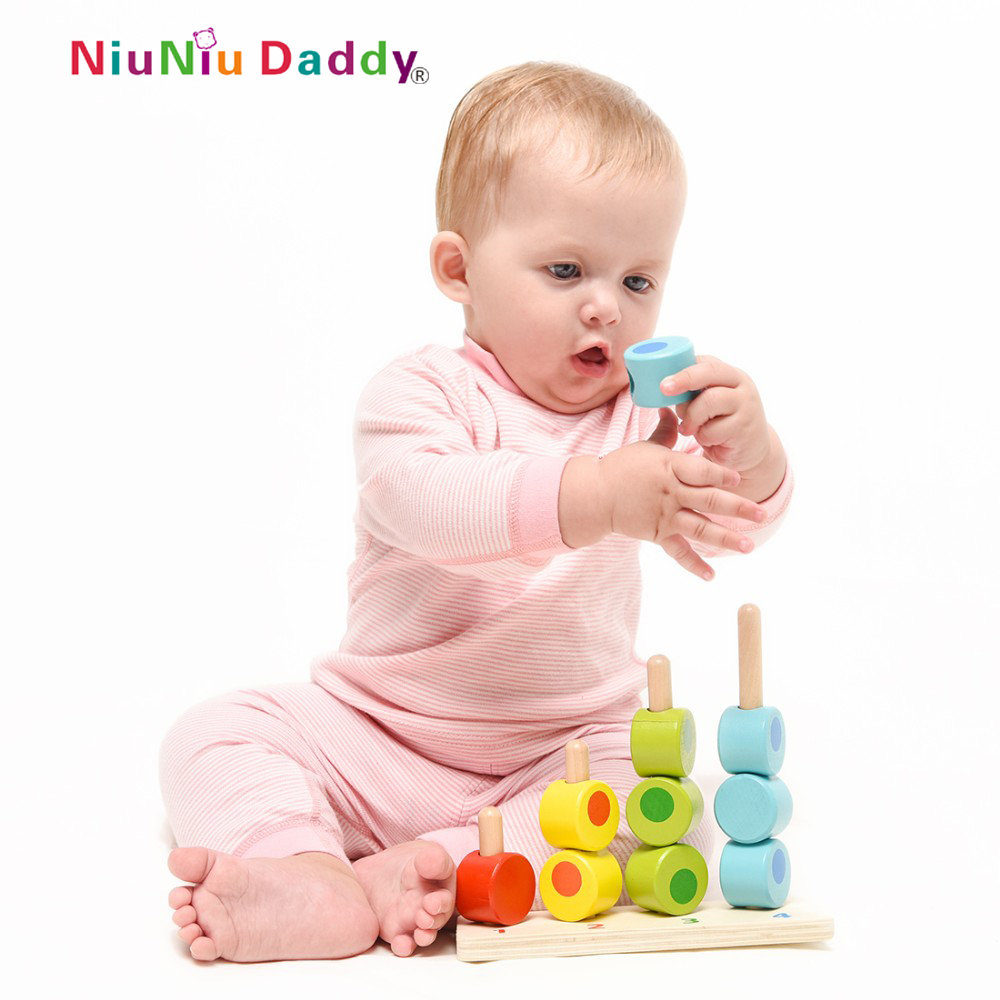 Niuniu Daddy Counting Stacker Early Learning Pairing Baby Toy ...