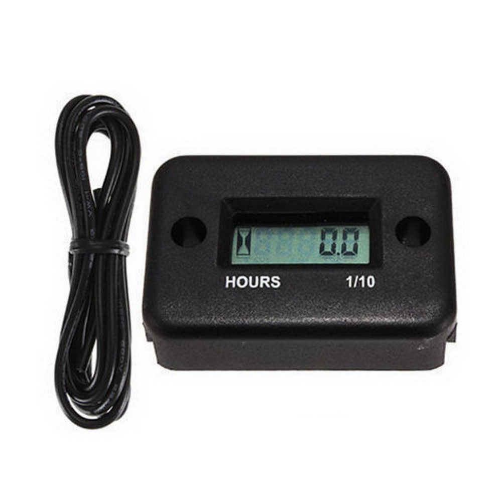 Waterproof Inductive Digital Hour Meter for Bike Motorcycle ATV Snowmobile Marine Boat Ski Dirt Gas Engine 12V Hot Drop Shipping waterproof snap in dc 4 5 12v 24v 36v 48v 60v hour meter counter for generator marine atv motorcycle snowmobile boat jet ski utv