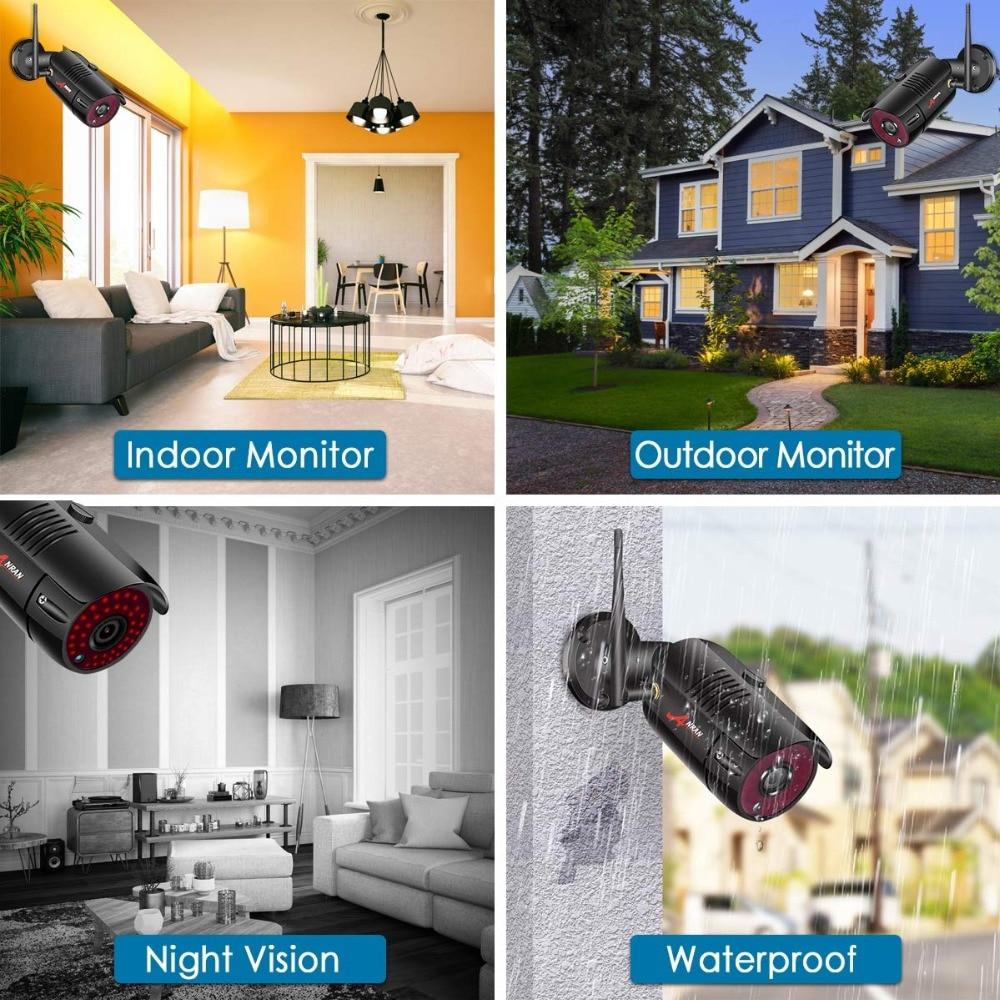 Image 5 - ANRAN 1080P Wireless Security Camera Kit 4CH NVR System Night Vision Outdoor Wifi Surveillance Camera System cctv Video Kit-in Система наблюдения from Безопасность и защита on AliExpress
