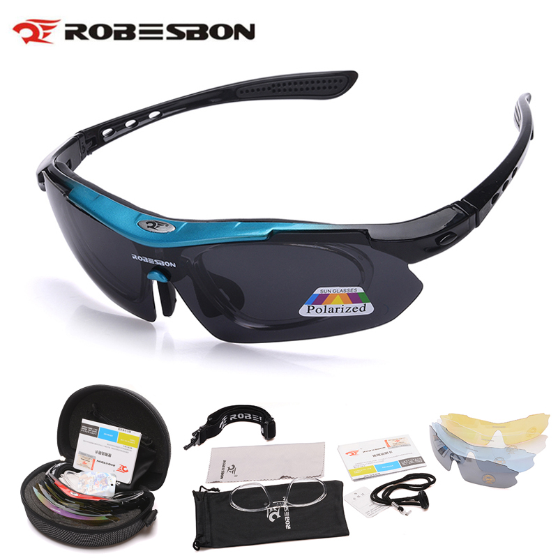 ROBESBON Polarized Cycling Glasses 5 Len Men Running Fishing Sun Glasses UV Protect Mountain Road Bicycle MTB Sunglasses hdcrafter driving sunglasses polarized men high quality retro aolly coating mirror sun glasses male brand designer oculos 017
