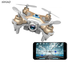 New CX-10W Quadcopter Mini Drone Remote Control Drones Wi-fi connection camera included 2.4ghz 4 channels WiFi phone control
