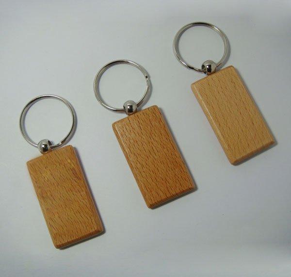 Großhandel 50 Stücke Blank Holz Schlüsselanhänger Förderung Rechteck Carving Key Id Gravieren Kann Diy 2,2 1,25-kostenloser Versand Reinweiß Und LichtdurchläSsig Spiegel