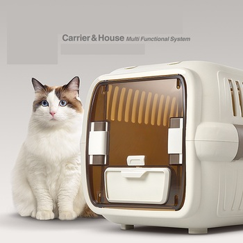 Cat Air Plane Transport Box Breathable Cat Puppy Dog Pet Travel Carrier Box For Cats And Small Dogs Pet Cat Cage WLYANG 1