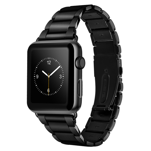 HOCO Wide Link Stainless Steel Strap for Apple Watch Band Classic Metal Watch Bracelet for iWatch Series 4 3 2 1 44mm 42mm | Fotoflaco.net