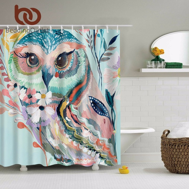 Superior BeddingOutlet Watercolor Owl Shower Curtain Polyester Animal Print Shower  Curtain Waterproof 180cmx180cm Home Decor With Hooks