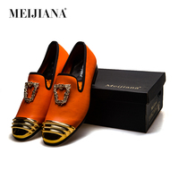 MeiJiaNa Designers Men Loafers Shoes 2018 Top Quality Leather Mens Casual Shoes Slip On Comfortable Male