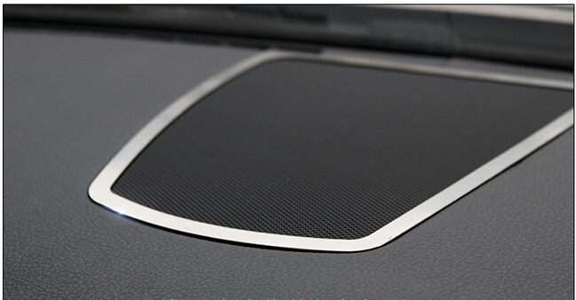 font b Interior b font Dashboard Middle Console Speaker Audio Ring decoration Cover Trim For