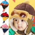 4 cores Quentes Crianças Criança Do Inverno Do Bebê Cap Piloto Aviador gorro Crianças Earmuff Proteger Chapéu Gorro, chapéus para crianças