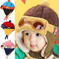 4colors Hot Kids Child Baby Winter Pilot Cap gorro Toddlers Aviator Earmuff Protect Beanie Hat,hats for children