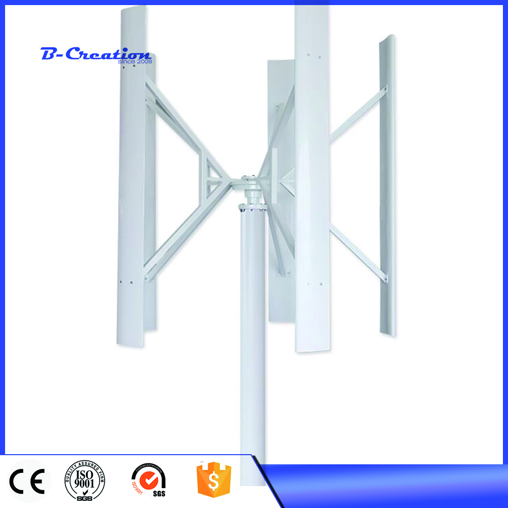 100W/200W/300W 12V/24V Wind Turbine Generator VAWT Vertical Axis Residential use with Charger Controller цена 2017