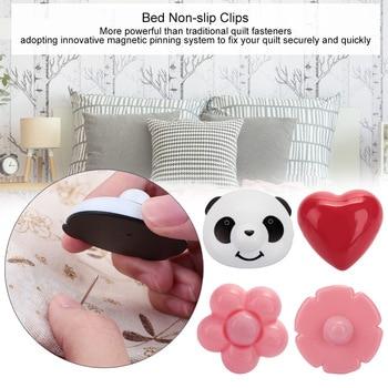 Panda Fastener 16 unids/set edredones lindo hoja titular muebles caja de plástico práctico edredón titular Drop Shipping