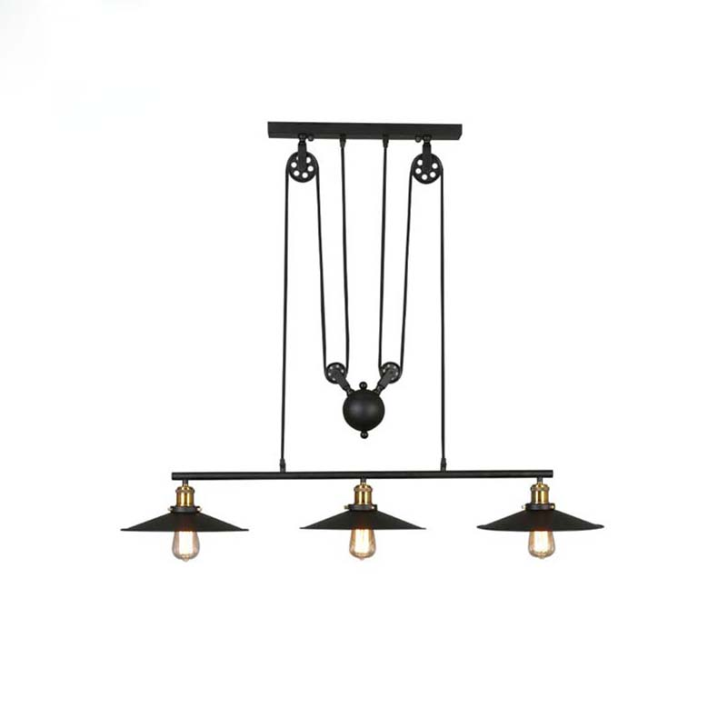 Nice Decor Retro Vintage Pendant Lamps With 1/2/3 Lights,Perfectly Matching American Lighs For Dinning Room,Living Room vintage edison pendant lamps with one head which height could be adjusted best matching indoor dinning room living room bed room