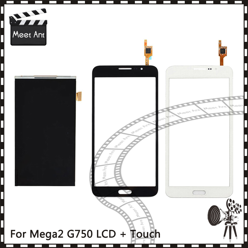 New High Quality 6.0 For Samsung Galaxy Mega 2 SM G750 G750 Lcd Display With Touch Screen Digitizer Sensor