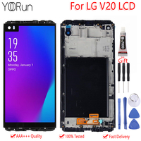5.7 For LG V20 VS995 VS996 LS997 H910 LCD Display Touch Screen Digitizer With Frame Assembly For LG V20 LCD Replacement Parts