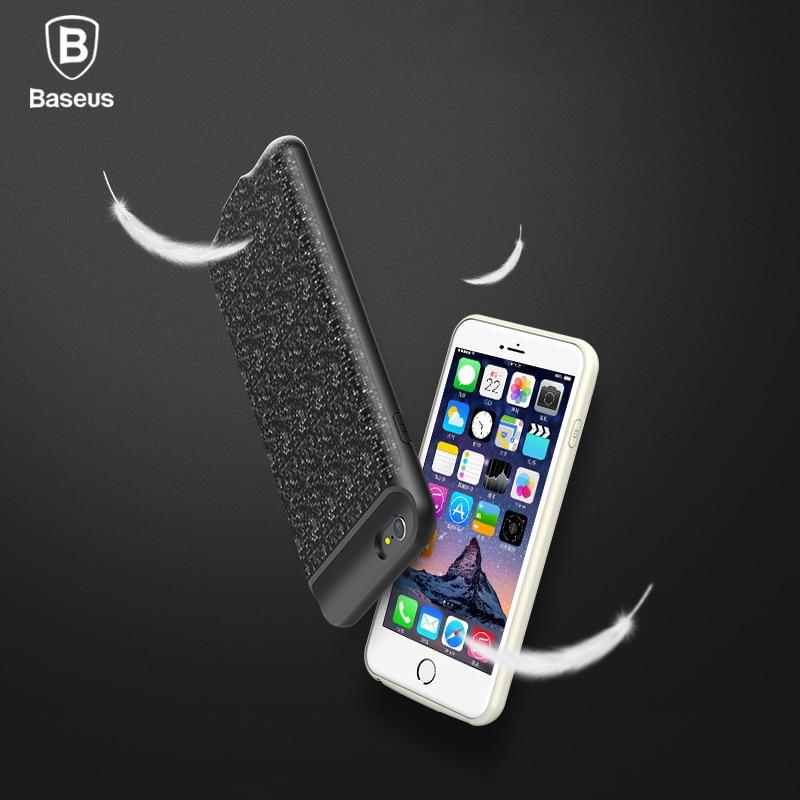 imágenes para De Baseus Caso de la Energía Para el iphone 6 s plus 2500/3650 mAh Magnética Caso Del Cargador Banco Portable Para el iphone 6 s Batería de Repuesto Externa