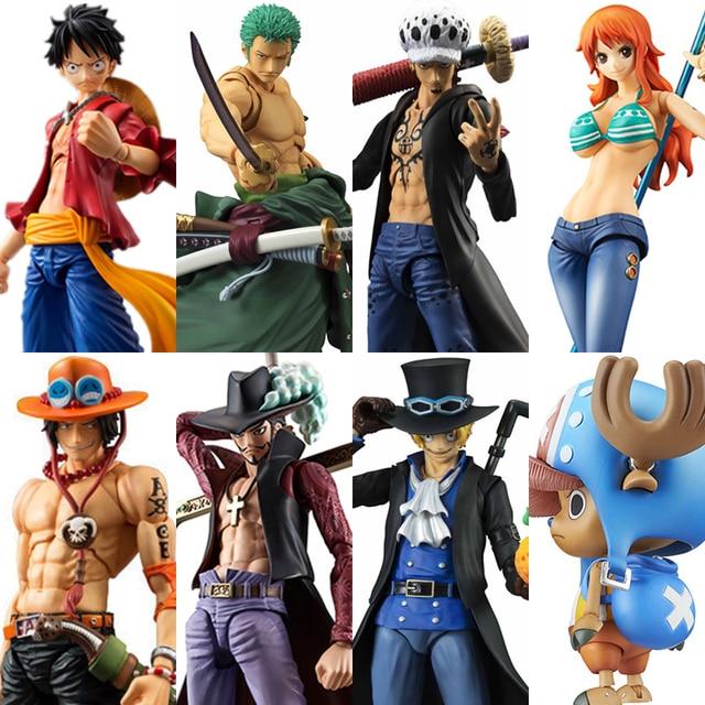 MegaHouse Variable Action Heroes One Piece Luffy Ace Zoro Sabo กฎหมาย Nami Dracule Mihawk พีวีซีแอ็คชั่นรูปของเล่นสะสม