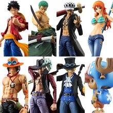 MegaHouse figuras de acción de One Piece, Luffy, Ace, Zoro, Sabo, Law, Nami, Dracule, Mihawk, juguete de modelos coleccionables en PVC