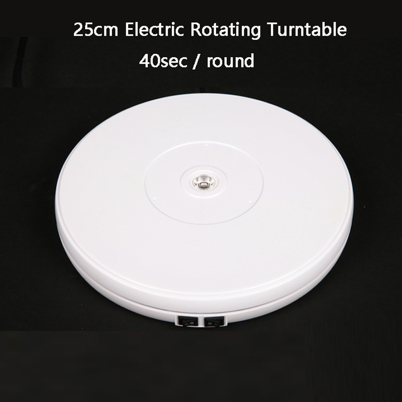 FALCONEYES PH360 10 25cm Led Light 360 Degree Electric Rotating Turntable for Photography Display,Max Load 10kg