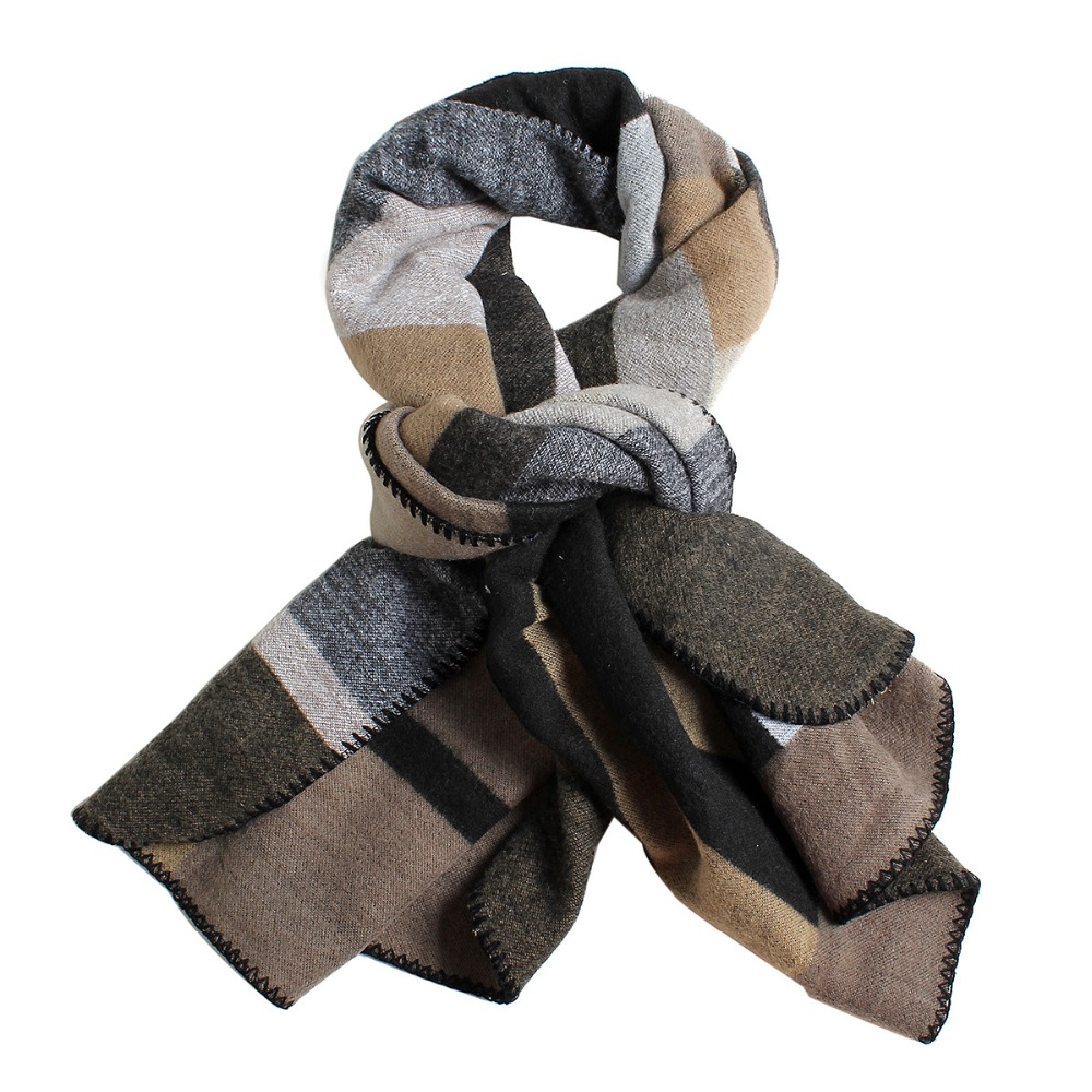 2017 New fashion font b tartan b font plaid cashmere scarf for women blanket scarf with
