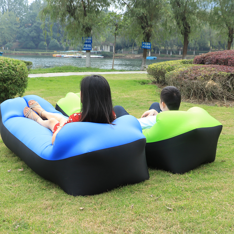 Fast inflatable sleeping laybag 10 colors high quality camping travel bag lazybag outdoor beach inflatable air sofa