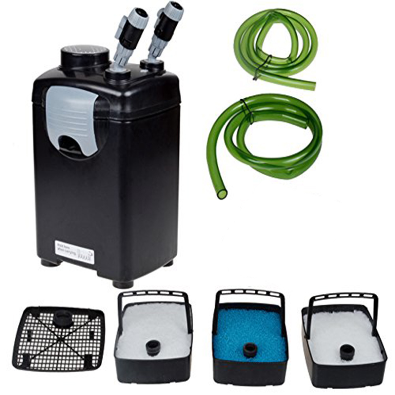 22W 1000L/h JEBO 835 3 Stage External Aquarium Canister Filter for Marine Fish Tank Saltwater Reef Filtration