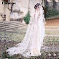 Оптовая продажа мягкий тюль срезанный край brautschleier 3 м покрывал для невесты белого цвета и цвета слоновой кости Ху Da Красота свадебная фата
