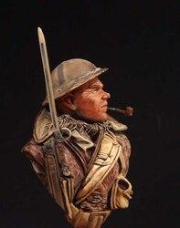 1/10 escala resina busto soldado britânico