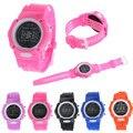 Irisshine p70 Crianças relógios Meninos Meninas Estudantes Relógio de Tempo Eletrônico LCD Digital Relógio De Pulso Esporte por atacado
