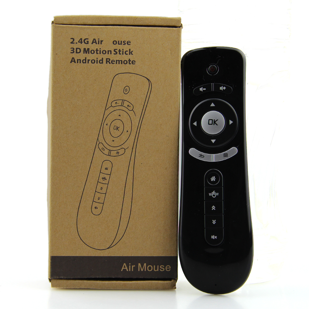 Giroscopio Mini Fly Air Mouse T2 2.4g Tastiera Senza Fili Del Mouse Per Android TV Box telecomando IR 3D Senso movimento Media Player